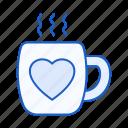 heart, love, coffee, cup, mug