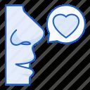 love, speech, bubble, chat, heart, conversation