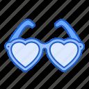 sun, glasses, love, heart, fashion