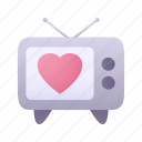 tv, television, heart, love