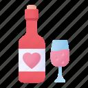 bottle, cup, love, heart