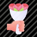 bouquet, flowers, roses, nature