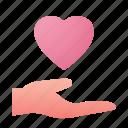 hand, love, heart, give