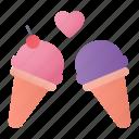 icecream, love, dessert, heart