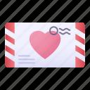 letter, mail, love, heart