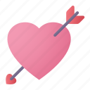 lover, heart, arrow, cupid