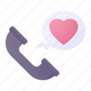 phone, call, love, heart