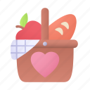 picnic, basket, camping, food icon