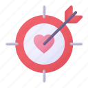 target, love, heart, arrow
