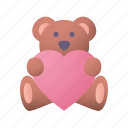 teddy, bear, love, heart, valentines, day