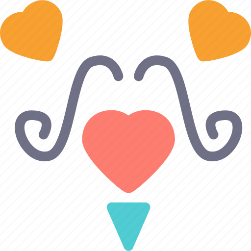 Heart, love, mustache, romance icon - Download on Iconfinder