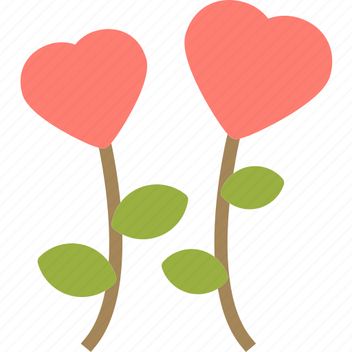 Flower, heart, love, romance icon - Download on Iconfinder