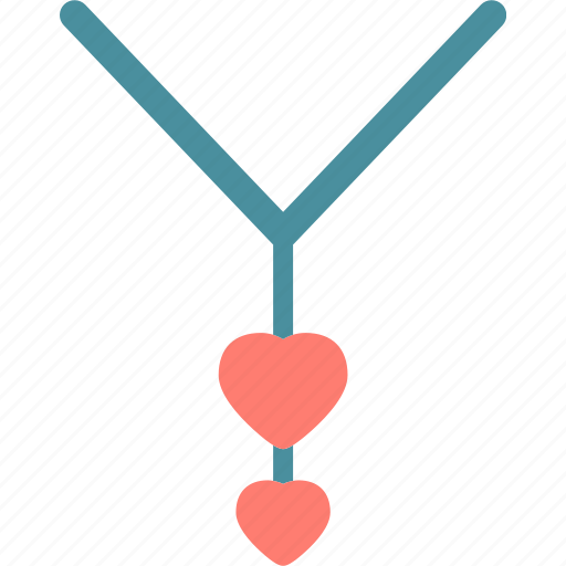heart, love, necklace, romance icon