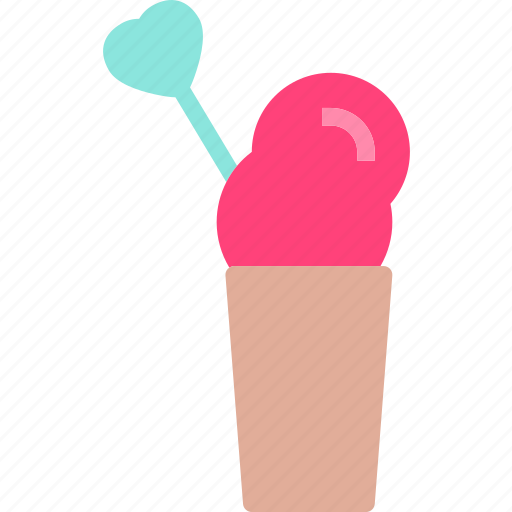 Heart, icecreamcup, love, romance icon - Download on Iconfinder