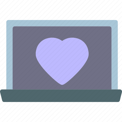 Heart, laptop, love, romance icon - Download on Iconfinder