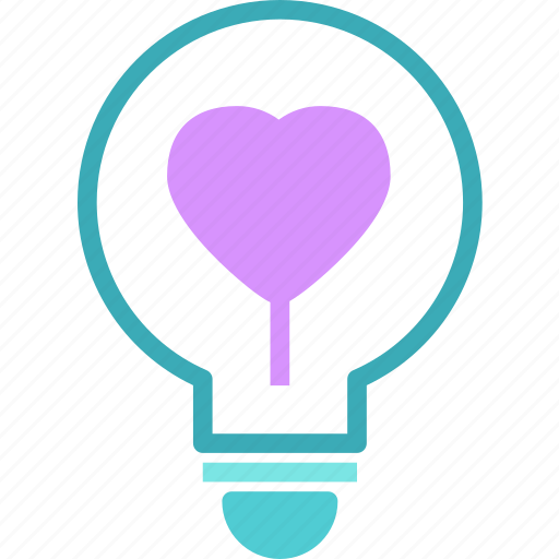 Heart, lighbulb, love, romance icon - Download on Iconfinder