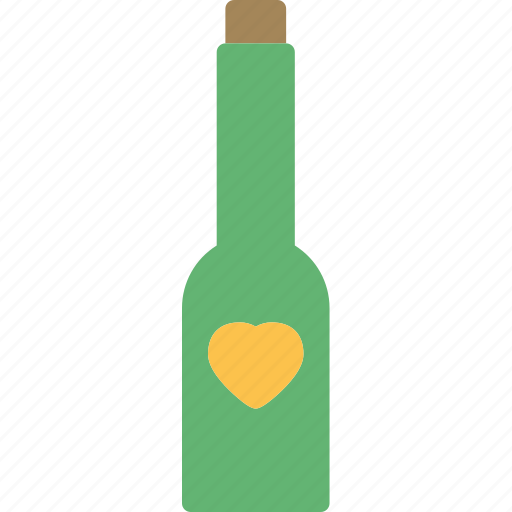 champagne, heart, love, romance icon