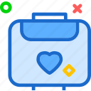 heart, love, luggage, romance icon
