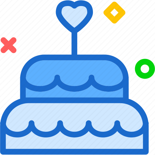 bride, cake, mariage, wedding icon