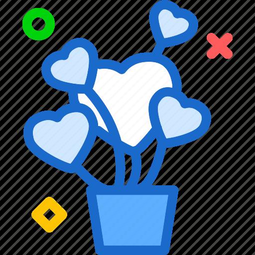 heart, love, plant, romance icon