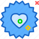 heart, love, romance, sun icon