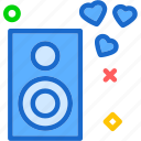 heart, love, romance, romanticmusic icon