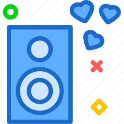 heart, love, romance, romanticmusic icon