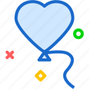balloon, heart, love, romance icon