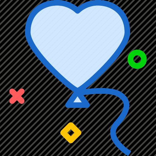balloon, heart, love, romance icon