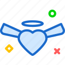 angel, heart, love, romance icon