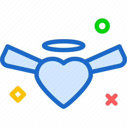 angel, heart, love, romance icon