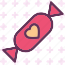 candy, heart, love, romance icon