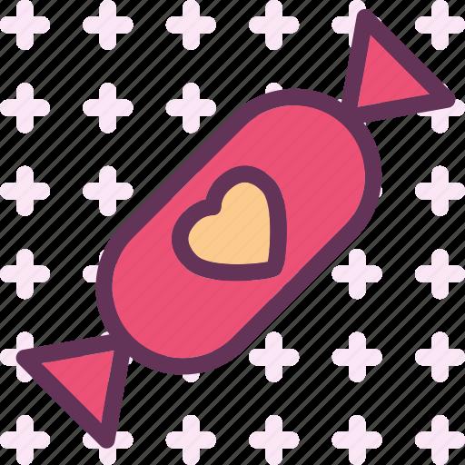 candy, heart, love, romance icon