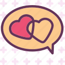chat, heart, love, romance icon