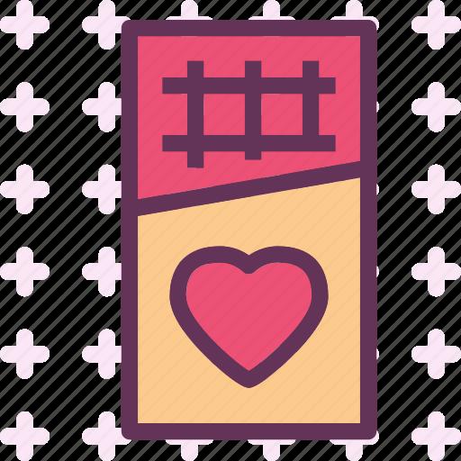 chocolatebar, heart, love, romance icon
