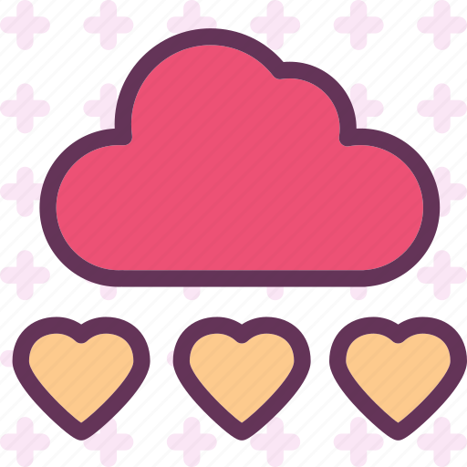 cloud, heart, love, romance icon