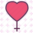 female, heart, love, romance icon