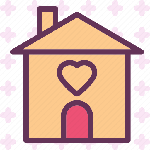 heart, house, love, romance icon