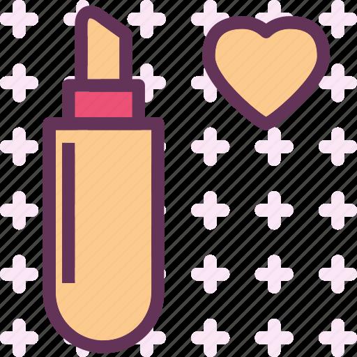 heart, lipstick, love, romance icon