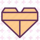 heart, love, romance, squared icon