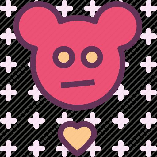 heart, love, romance, teddybear icon
