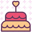 bride, cake, mariage, wedding icon