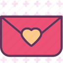 envelopemail, heart, love, romance icon