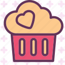 dessert, heart, love, romance icon