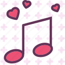 heart, love, music, romance icon