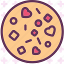 heart, love, pizza, romance icon