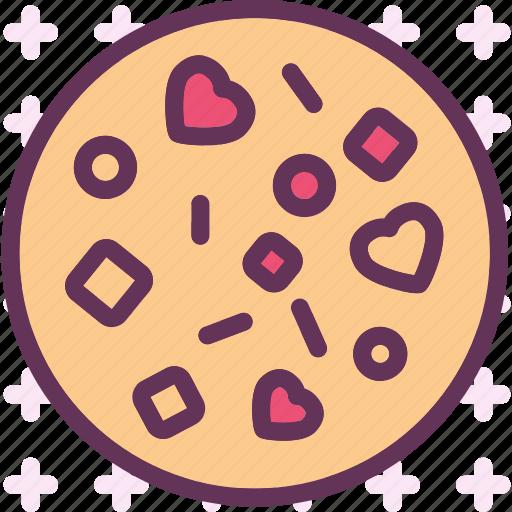 heart, love, pizza, romance icon
