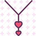 heart, love, necklace, romance icon