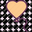 balloon, heart, love, romance
