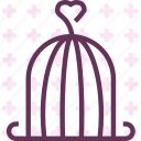 cage, heart, love, romance icon